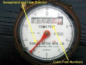 Sweephand and Leak Detector - Cubic Feet Numbers